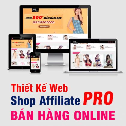 Thiết Kế Web Shop Affiliate Pro bán hàng Online A-Z